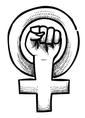 Cartoon image of Feminism symbol