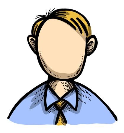button: Cartoon image of User Icon. User symbol