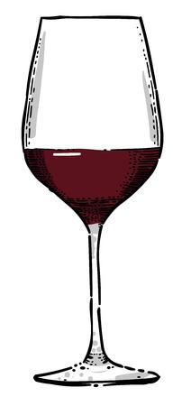 Cartoon image of Wine Icon. Wine glass symbol