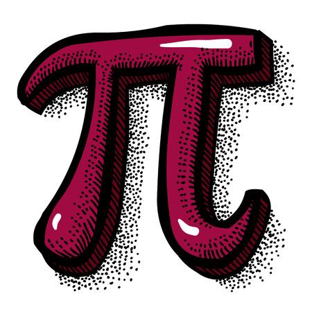 Pi 기호의 만화 이미지