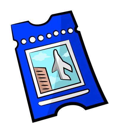 Cartoon image of Ticket