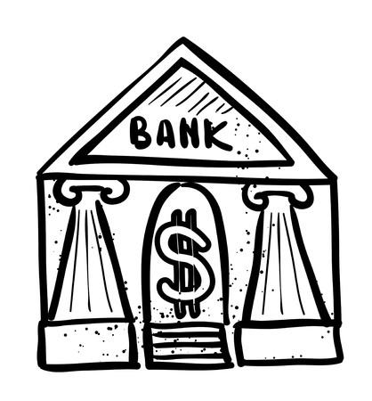 roman column: Cartoon image of Bank Icon. Government symbol Illustration