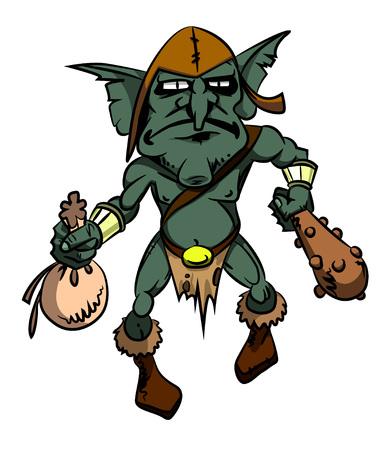 Cartoon image of goblin Stock Vector - 81521600