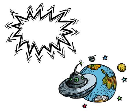 platillo volador: Platillo volador y planeta-100