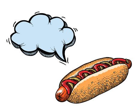quirky: hotdog-100 Illustration
