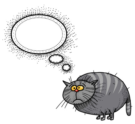 free clip art: fat cat-100 Illustration