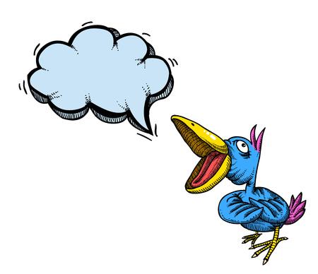 鳥100を歌う  イラスト・ベクター素材
