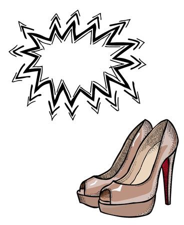 high heeled shoes-100