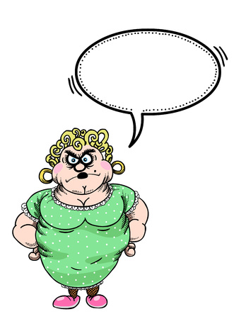 Cartoon image of annoyed woman