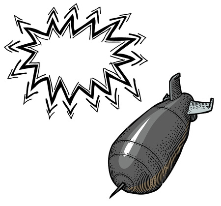 nuclear bomb: falling bomb-100