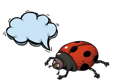 ladybug-100 Vector Illustration