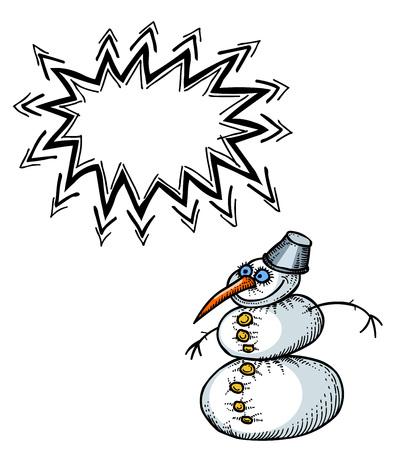 snowman-100 Stock Vector - 81608119