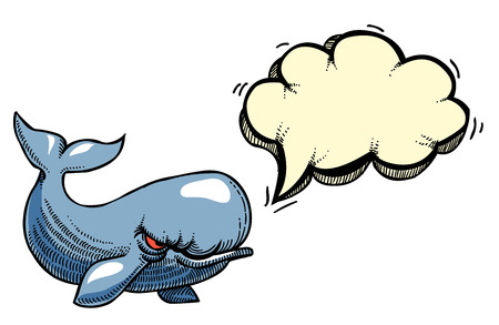 quirky: Cartoon image of angry whale Illustration
