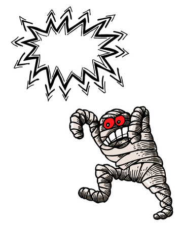free clip art: bandaged mummy-100 Illustration