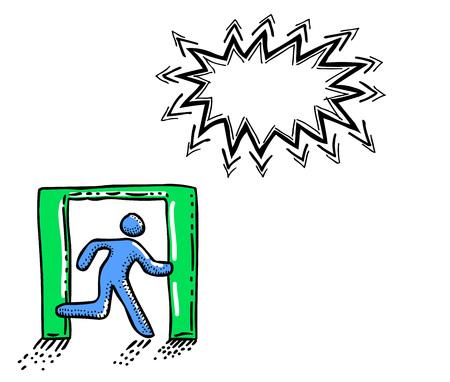 evacuacion: Icono de salida. Deja el símbolo-100