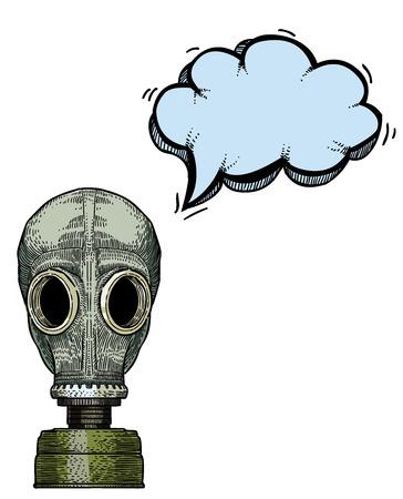 concealment: gas mask-100