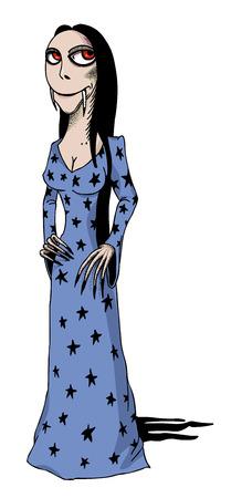 incubus: Cartoon image of vampire girl Illustration