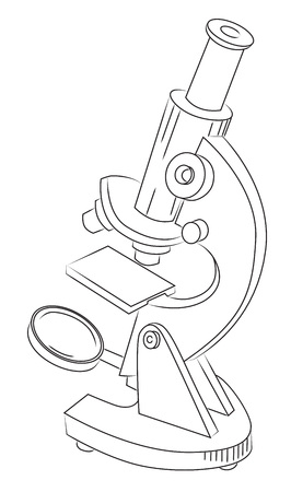 Biopsia: Imagen de dibujos animados de microscopio Vectores