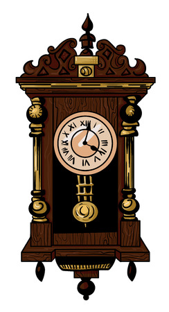 Cartoon image of old clock