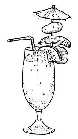 singular: Cartoon image of weird cocktail