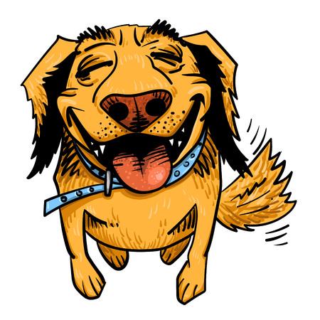 Cartoon Bild von glücklichen Hund