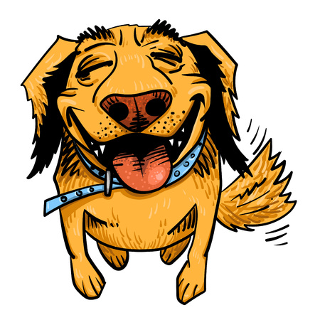 Cartoon image of happy dog Illustration