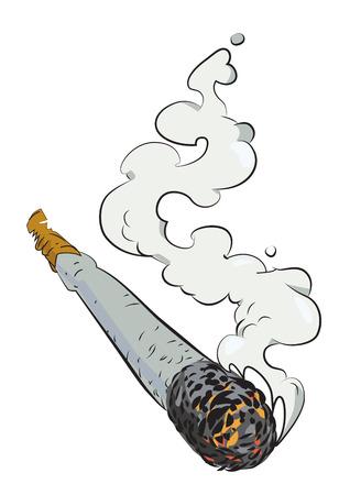 manos unidas: Imagen de la historieta de la articulación de la marijuana
