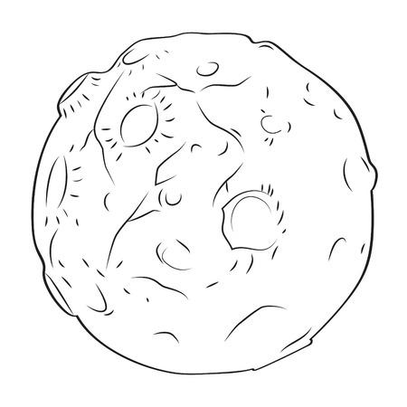 conflicting: Cartoon image of alien planet