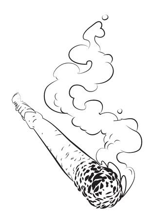 concerted: Cartoon image of marijuana joint