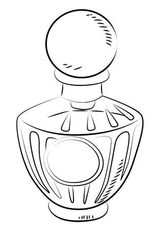 ewer: Cartoon image of perfume bottle Illustration