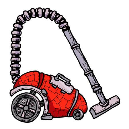 Cartoon image of vacuum cleaner Illustration