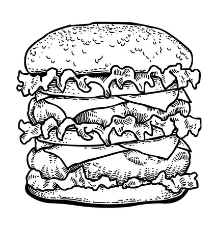 Cartoon image of tasty burger