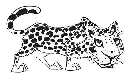 Cartoon image of leopard
