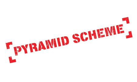 cheat: Pyramid Scheme rubber stamp Illustration