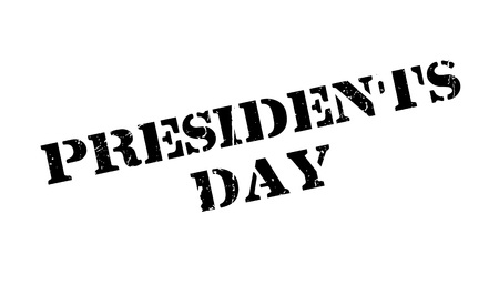 大統領の日スタンプ。ほこり傷とグランジ デザイン。効果は、クリーンでさわやかな一見のために簡単に削除できます。色が簡単に変更されます。