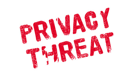 illustrative: Privacy Threat rubber stamp. Grunge design with dust scratches. Effects can be easily removed for a clean, crisp look. Color is easily changed.