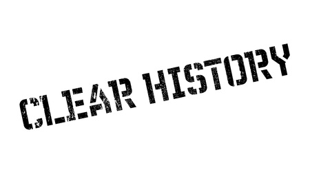 bygone: Clear History rubber stamp
