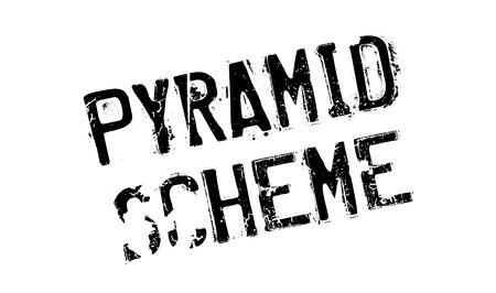 unsustainable: Pyramid Scheme rubber stamp Illustration