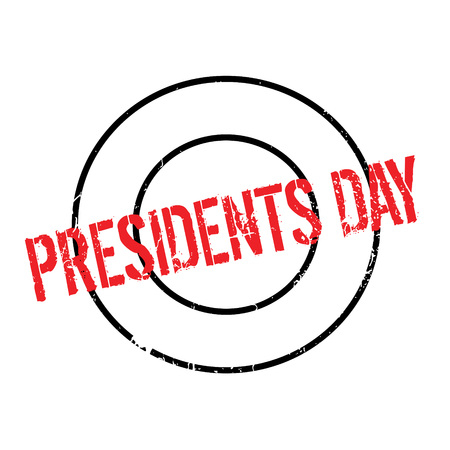 Presidents Day rubber stamp