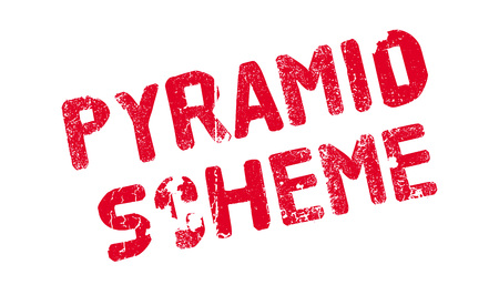illustrative: Pyramid Scheme rubber stamp. Grunge design with dust scratches. Effects can be easily removed for a clean, crisp look. Color is easily changed. Illustration