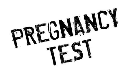 Pregnancy Test rubber stamp