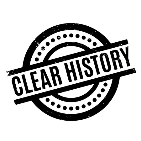 old times: Clear History rubber stamp