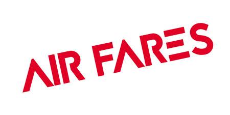 Air Fares rubber stamp. Grunge design with dust scratches. Effects can be easily removed for a clean, crisp look. Color is easily changed. Illustration