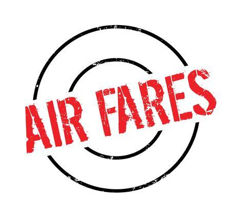 航空運賃のゴム印