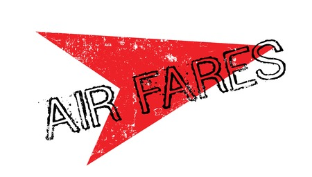 Air Fares rubber stamp Illustration