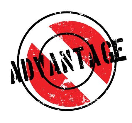 dominance: Advantage rubber stamp Illustration