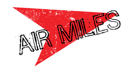 Air Miles rubber stamp Stock Photo