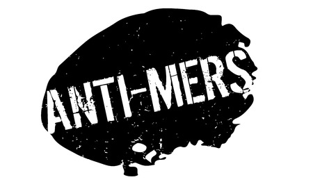 the bacteria signal: Anti-Mers rubber stamp. Grunge design with dust scratches. Effects can be easily removed for a clean, crisp look. Color is easily changed.
