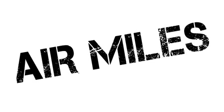 Air Miles rubber stamp. Grunge design with dust scratches. Effects can be easily removed for a clean, crisp look. Color is easily changed. Illustration