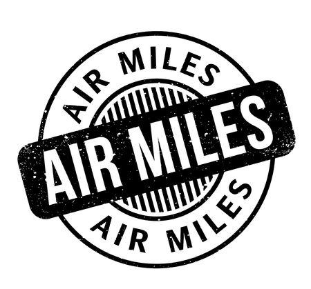 Air Miles rubber stamp Illustration